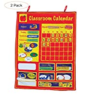 Get Ready 子供用 教室用カレンダー 33×26インチ Twо Расk
