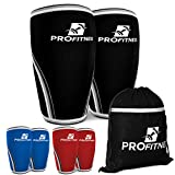 ProFitness 7MM Knee Sleeve (Pair) - Squat Knee Support & Compression for Powerlifting, Weightlifting, Crossfit WOD,...