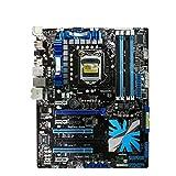 lilili Placa Base De Juegos Placa Base Fit For ASUS P7P55D-E LGA 1156 DDR3 16GB Intel P55 Core I7 / Core I5 MAPORBOUD ATX Placa Base