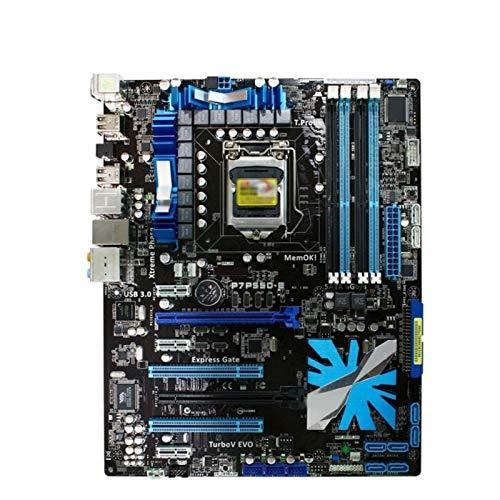 Xiatian Tablero de reemplazo de computadora Placa Base De Juegos Placa Base Fit For ASUS P7P55D-E LGA 1156 DDR3 16GB Intel P55 Core I7 / Core I5 MAPORBOUD ATX Placa Base de computadora de Escritorio