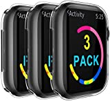 ivoler Pack de 3 Coque pour Apple Watch 38mm Series 3/2, iWatch Protection Ecran [Couverture...
