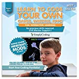 Coding for Kids - Learn to Code - Program Computer Games, Websites, Apps, Minecraft Mods (Ages 12+) - Programming Animation Design Software - 1 YEAR Pre-Paid Gift Card (PC & Mac)