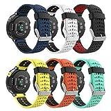 MoKo (6PZS) Correa para Forerunner 235, Banda de Reemplazo de Suave Silicona para Forerunner 235 Lite/220/230/620/630/735XT Smart Watch, Multicolor A