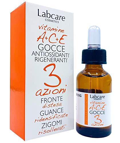 GOCCE ANTI-AGE Vitamine A+C+E Un innovativo cosmetico per fronte, guance, zigomi, un mix di vitamine ed estratti naturali che in perfetta sinergia regalano alla pelle del viso un rinnovato splendore.