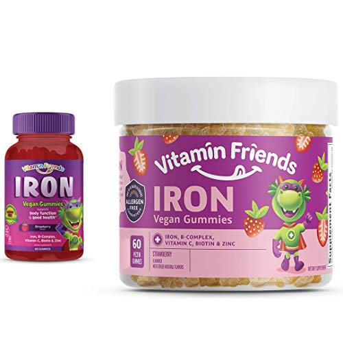 Vitamin Friends Iron Multivitamin for Kids - Vegan (60 Day...