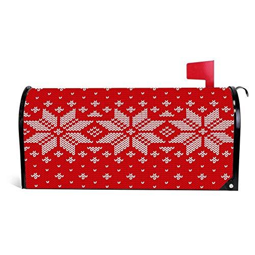 happygoluck1y Gestrickte skandinavische Textur, gestrickt, Weihnachts-Briefkastenabdeckung, magnetisch, Standardgröße, Urlaub, Saison, Heim, Garten, Dekoration, Weihnachts-Briefkastenumschlag