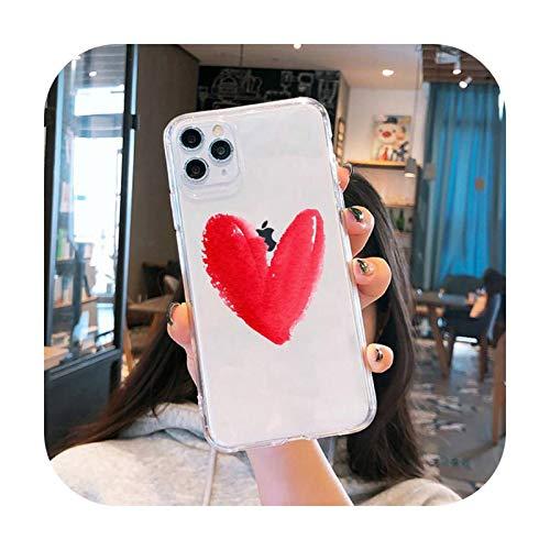 Funda para teléfono móvil transparente suave para iPhone 5, 5S, 5C, SE, 6, 6S, 7, 8, 11, 12 Plus, Mini x XS XR Pro max-a4-iphone 12mini