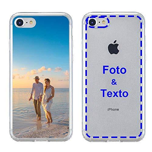 MXCUSTOM Funda Personalizada para Apple iPhone 7/8, Carcasa Personalizado Teléfono móvil Transparente con Foto Imagen Texto Diseña [Parachoques Blando+Panel Posterior Dura] (CHT-CR-P1)