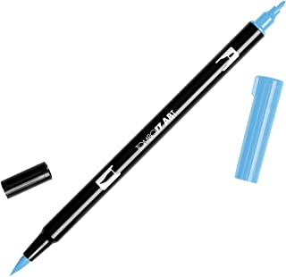 Tombow Dual Brush Pen Art Markers, Peacock Blue 533, 6-Pack