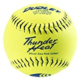 Dudley 12' USSSA Thunder Heat Slow Pitch Classic M Stamp Softball - 12 pack