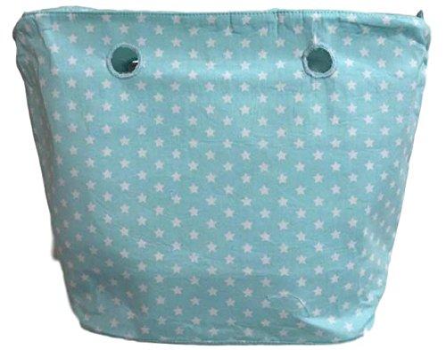 STARS - Innentasche Mit Reissverschluss Inlay passend für O BAG CLASSIC - Standart (Mint)