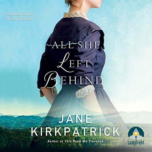 All She Left Behind                   By:                                                                                                                                 Jane Kirkpatrick                               Narrated by:                                                                                                                                 Tavia Gilbert                      Length: 10 hrs and 43 mins     11 ratings     Overall 4.0