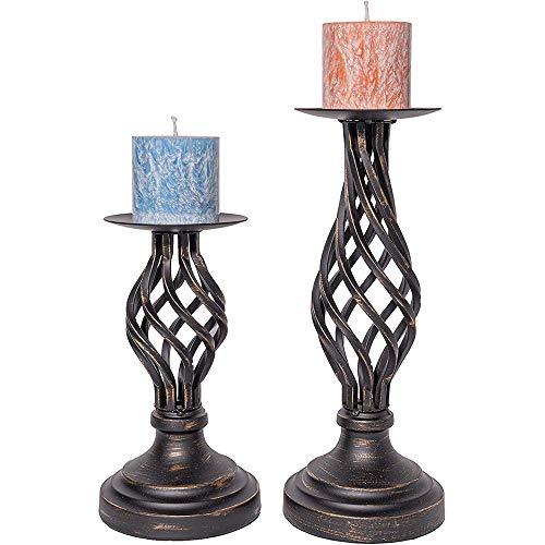 Flushbay ティーライトホルダー キャンド立て スタンド 燭台 蝋燭立て 雰囲気作り パーティー 結婚式 誕生日 ホーム テーブル 飾り キャンドルスティックホルダー お祝い用品 (ブロンズ)