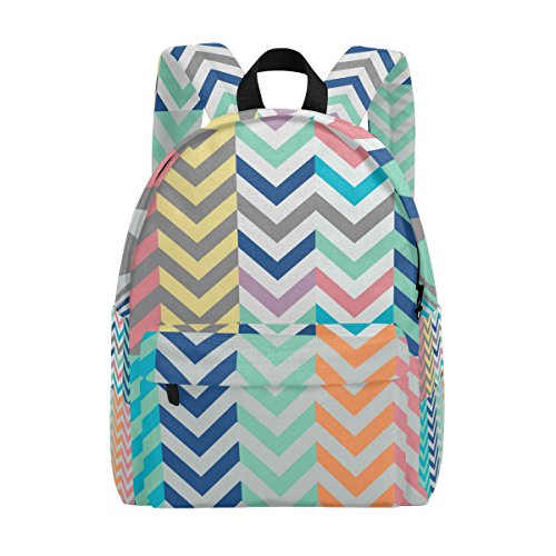 COOSUN Quiver Full of Arrows Matching Chevrons Lightweight School Classic Backpack Travel Rucksack for Girls Women Kids Teens