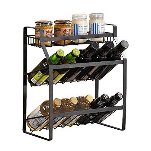 Qianglin 3 Niveles Spice Rack, Organizador de Especias de pie de encimera, para Cocina, gabinete, baño, más, fácil Montaje