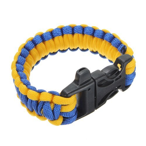 Well-Goal 10inch Paracord Survival Bracelets Rope Cable with Whistle Buckle Outdoor by Well-Goal