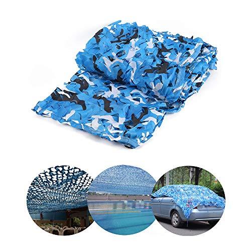 DLLY UV-Schutz Tarnnetz, Marine Sonder Shade Net, in Garten, Hof,Aquarium, Swimming-Pool, Shading, Dekoration, Ausstellunghintergrund, Sonnensegel, Kein Geruch, Blau Und Weiß,9x9m(30 * 30ft)