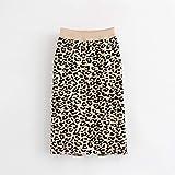 FSDFASS Faldas Autumn High Street Mujer Stirts Chic Leopard Hembra Recta Hight Cintura Office LadyFaldasS