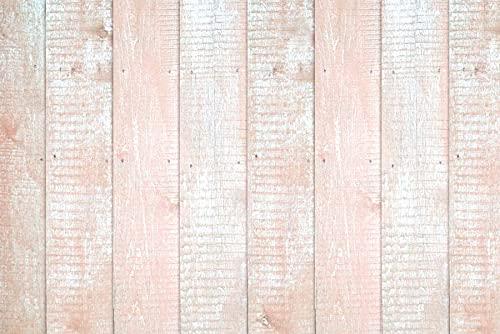 Fondo de fotografía Tablero de Madera Rosa Textura de tablón Fondo de bebé recién Nacido Accesorios de Estudio fotográfico A4 5x3 pies / 1,5x1 m