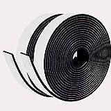 Moosgummi Selbstklebend 25mm(B) x 3mm(D) x 10M(L) Dichtungsband Schaumstoff Klebeband Türdichtungen Gummidichtung für Kollision Siegel Schalldämmung Schwarz