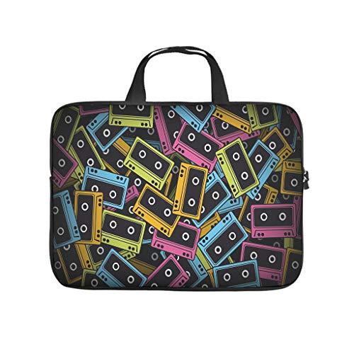 Bolsa para portátil con diseño abstracto con bandas de colores, resistente al agua, para el trabajo, el negocio