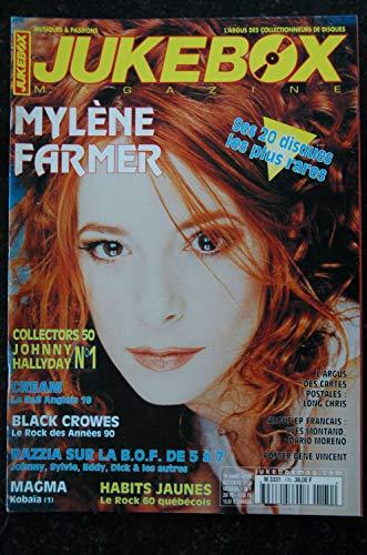 JUKEBOX 170 * 2001 * MYLENE FARMER JOHNNY HALLYDAY CREAM Black CROWES MAGMA - Poster Gene Vincent - 84 P