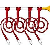 4 Piezas Correas Cordones de Paleta de Kayak Correa de Caña de Kayak Correa Cordón Enrollada Elástica Accesorios de Kayak para Kayak y Remos (Rojo)