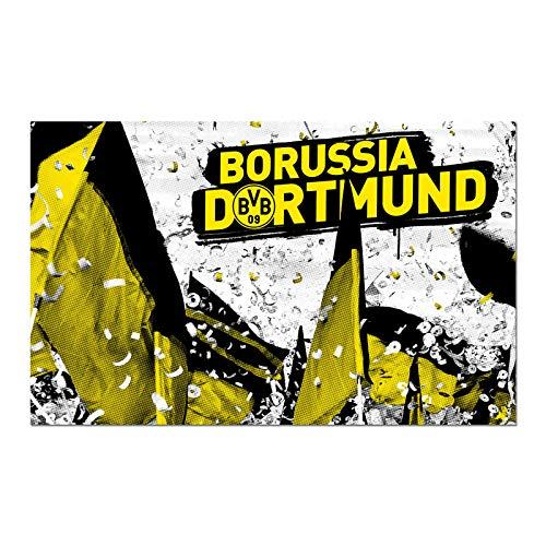Borussia Dortmund BVB-Kunstdruck Fahnenmeer 80x50 cm one Size