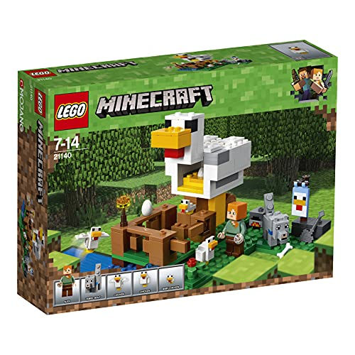LEGO Minecraft IlPollaio, Set di Costruzioni,Fattoria Giocattolo da Costruire per Bambini, 21140