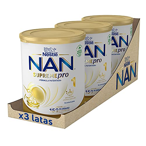 NAN SUPREMEpro 1 Leche Para Lactantes En Polvo Premium, 3 latas x 800 g