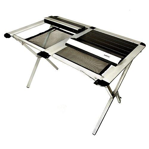Yaccu Art.017 Aluminium Rolltisch Campingtisch 110 x 70 x 70 cm mit Ablagenetz