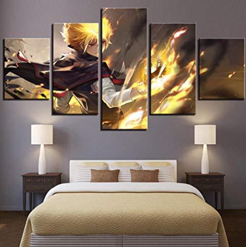 HTBYTXZ Wohnzimmer Kunst High Definition Druck 5pcs /pcs Modulare Bilder von Anime Tutor Killer Wiedergeburt Home Decoration Gemälde 20x35 /45 /55cm Kein Rahmen