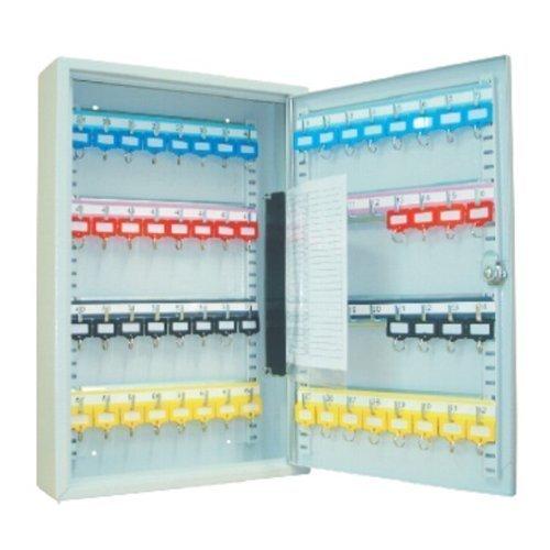 Schlüsselkasten / Schlüsselschrank 450x380x80 mm, 64 Haken, lichtgrau, inkl. Schlüsselanhänger