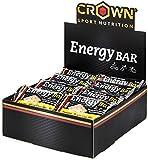 Crown Sport Nutrition 18 x Energy Bar (60g), Barritas de avena energéticas sin cobertura con extra de proteína para...