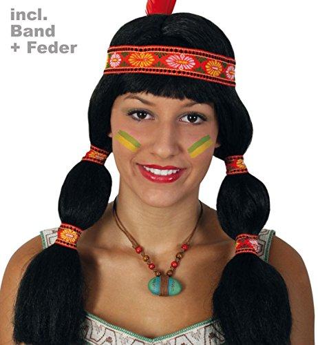 Pour le carnaval perruque indienne aponi tresses