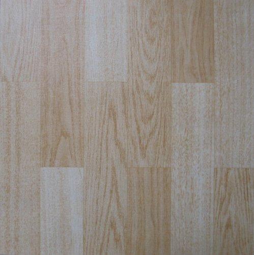 Hauli-Tiles - 50 piastrelle da pavimento in vinile colore betulla chiaro, autoadesive