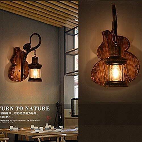 YINGGEXU Lámpara de pared de Pared personalizado y elegante sala de estar Dormitorio restaurante de pared de luz estilo industrial Loft Café barra de madera barco de madera, luces de pared del