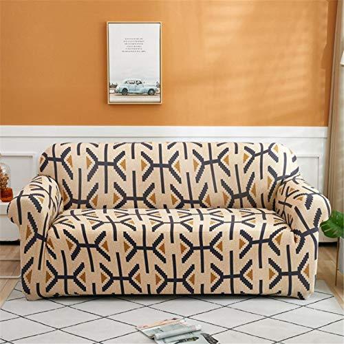 SUUZQK Home Sofa Schutzhülle Bedruckte Stretch-Sofabezug Verblasst Nicht, Einschließlich Rutschfester Streifen L-Förmiges Sofa Benötigt 2 Sofabezüge 1 Seater (90-140 cm)