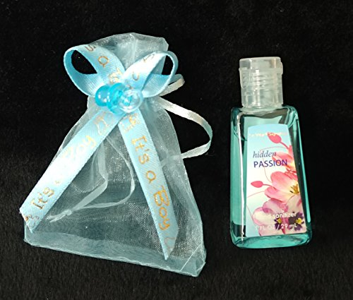 12 Organzas It's a Boy Hand Sanitizer Baby Shower Party Favor