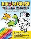 Dinosaurier Kritzel Malbuch - Kleinkindgerechte Dinosaurier Motive mit dickeren Konturen