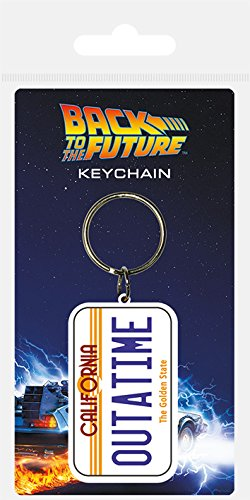 Official Back to the Future Outatime DeLorean License Plate Keyring