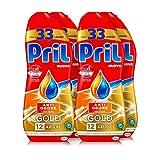 Pril Gold Gel lavastoviglie Anti Odore, Detersivo lavastoviglie con sgrassatore attivo, 132 lavaggi, 4 x 600 ml