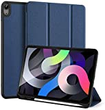 Funda para iPad Air 4 10.9 2020 con Portalápices, Funda Inteligente Liviana con Respaldo De TPU Suave, Reposo/Activación Automático para iPad Air 4ta Generación 2020,Blue