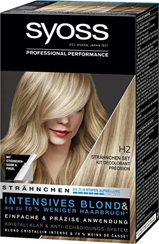 SYOSS Blond Strähnchen Set Stufe 3 H2, bis zu 6 Stufen Aufhellung, 3er Pack (3 x 95 ml)