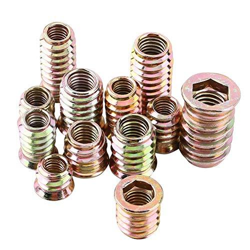 FTVOGUE 20pcs Inserti a Vite interno con esagono incassato Vite a testa cilindrica con inserti in acciaio al carbonio filettati per mobili in legno(M6*20mm)