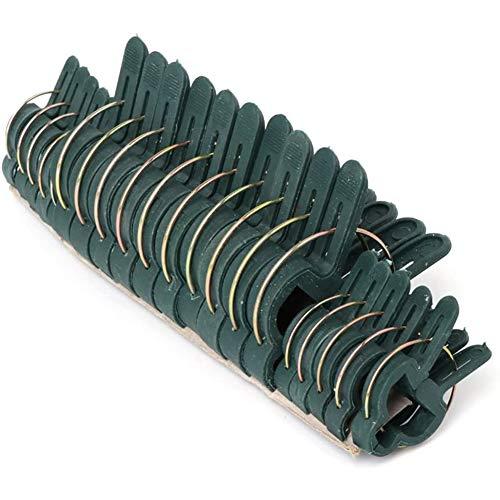 ZYYF 20 Stück Wiederverwendbare Gartenblumenhebel-Schleifengreiferclips, Pflanzenunterstützungs-Gartenclips für Weingemüse, zur Unterstützung von Glättungsstielen Stängelreben