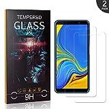 Generic LAFCH Schutzfolie für Samsung Galaxy A7 2018, 2 Stück Displayschutzfolie Kompatibel mit Samsung Galaxy A7 2018, 9H Härte, Anti-Öl, Anti-Bläschen, Anti-Kratzen -