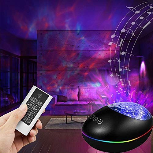 Star Galaxy Light Projector with Bluetooth Speaker, Ocean Wave Projector...