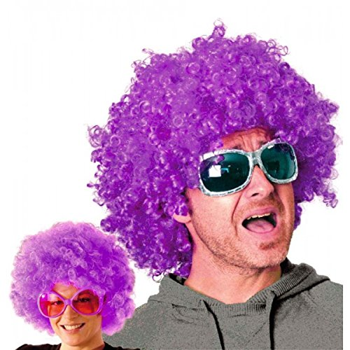 Party Pro- Perruque, Unisexe Adulte, 865516, Violet, Taille Unique