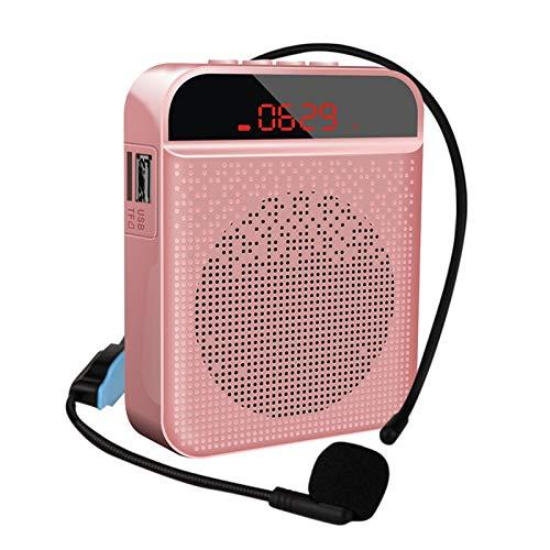 Amplificador De Voz Recargable Portátil, Altavoz Con Microfono Para Profesores, 5W(3000mAh) Profesional...